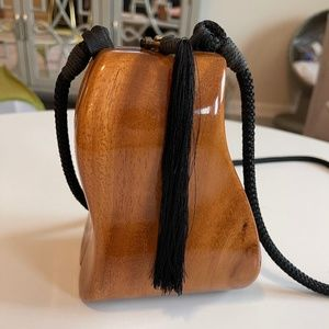 Timmy Woods Beverly Hills Collection Wooden Bag